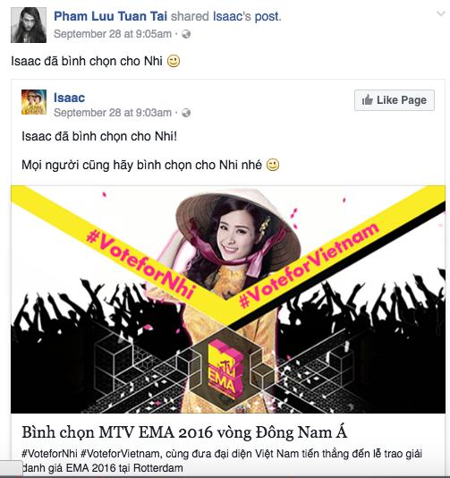 MTV EMA 2016: Mỹ Tâm, Hồ Ngọc Hà cùng loạt sao Việt kêu gọi fan bình chọn cho Đông Nhi - Ảnh 5