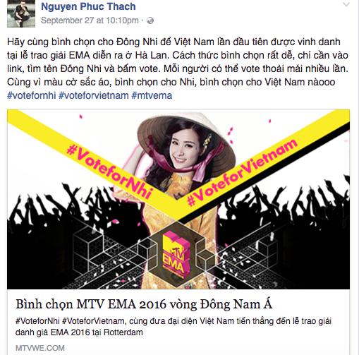 MTV EMA 2016: Mỹ Tâm, Hồ Ngọc Hà cùng loạt sao Việt kêu gọi fan bình chọn cho Đông Nhi - Ảnh 6